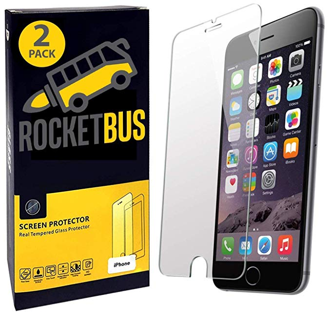 Tempered Glass Screen Protector for Apple iPhone 8 Plus, 7 Plus, 6 Plus