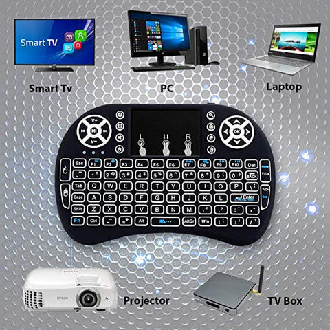 Image of Wireless Keyboard Remote Control Touchpad Mouse Backlit LED Light
