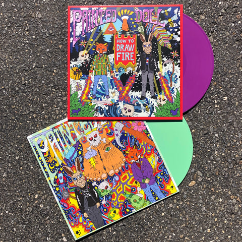 "Painted Doll - ""How to Draw Fire"" on purple and ""S/T"" on green LP bundle!"