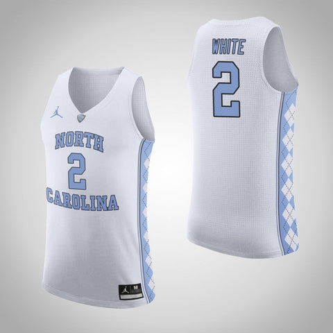 North Carolina Coby White Jersey(White)™