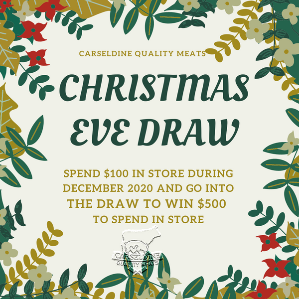 Win a $500.00 gift voucher | Drawn Christmas Eve
