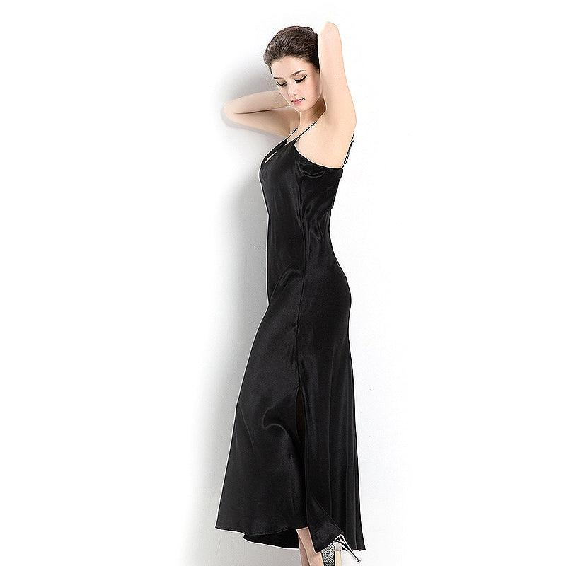 Women's Silk Luxury Long Full Length Nightgown Nightdress All Sizes