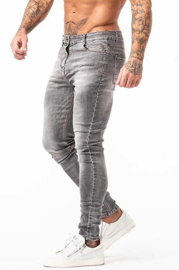 Non Ripped Spray On Jeans - Grey Wash - Maison