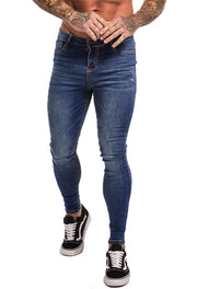 Non Ripped Spray On Jeans - Dark Blue - Maison