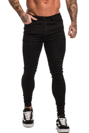 Non Ripped Spray On Jeans - Black - Maison