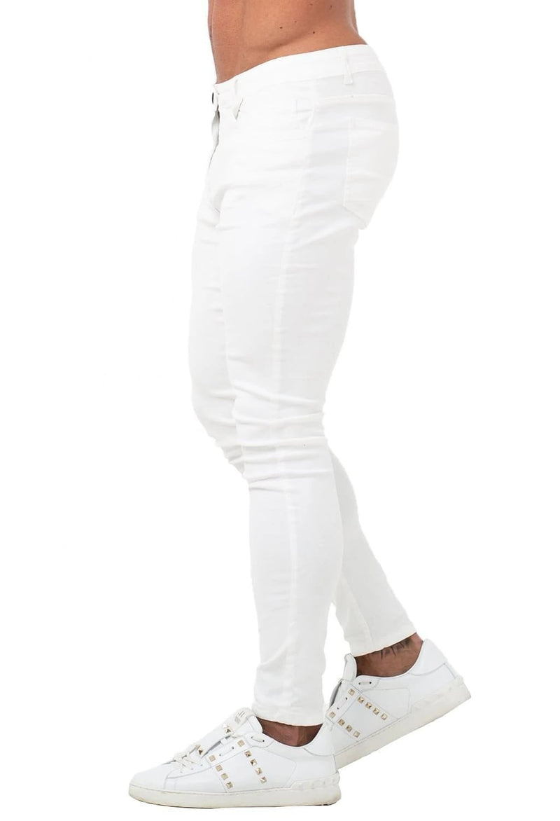 Non Ripped Spray On Jeans - White - Maison