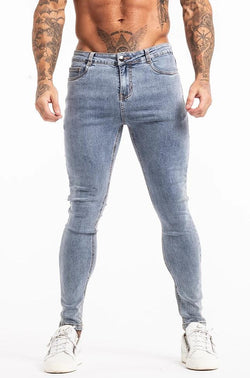 Non Ripped Spray On Jeans - Light Wash - Maison