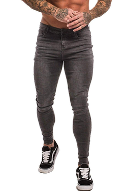 Non Ripped Spray On Jeans - Grey - Maison