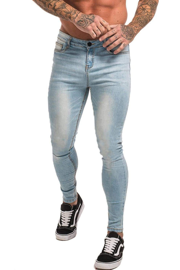 Non Ripped Spray On Jeans - Light Blue - Maison