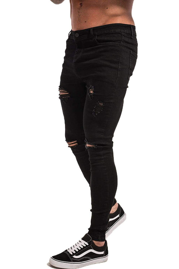 Ripped & Repaired Spray On Jeans - Black - Maison