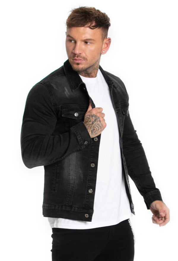 Black Shirts Denim Jacket - Maison