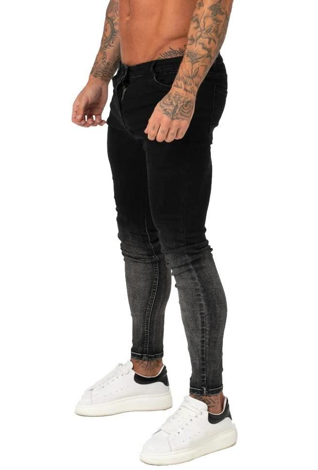 Non Ripped Spray On Jeans - Faded Black - Maison