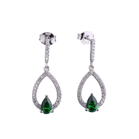 Green Pear Earrings - Sonia Danielle