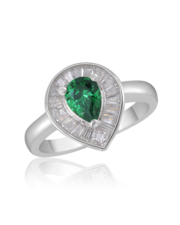 Emerald Green CZ Ring - Sonia Danielle
