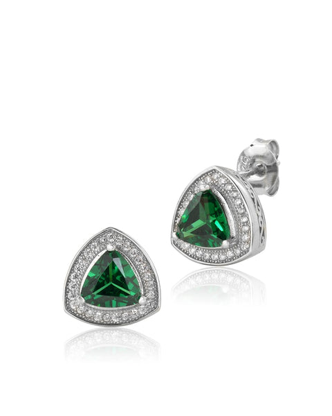 Lush Peak Emerald CZ Earrings - Sonia Danielle