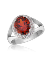 Amour Red-Orange CZ Ring - Sonia Danielle
