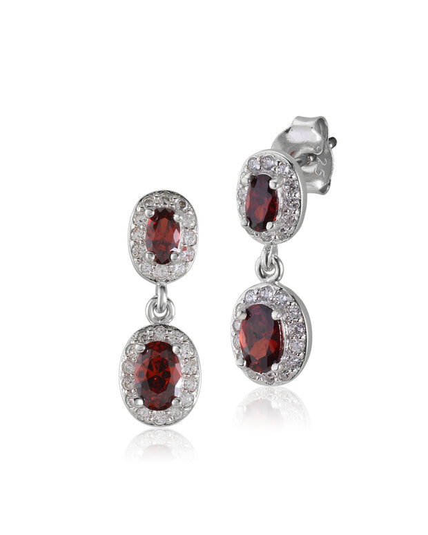 Amour Red-Orange CZ Earrings - Sonia Danielle