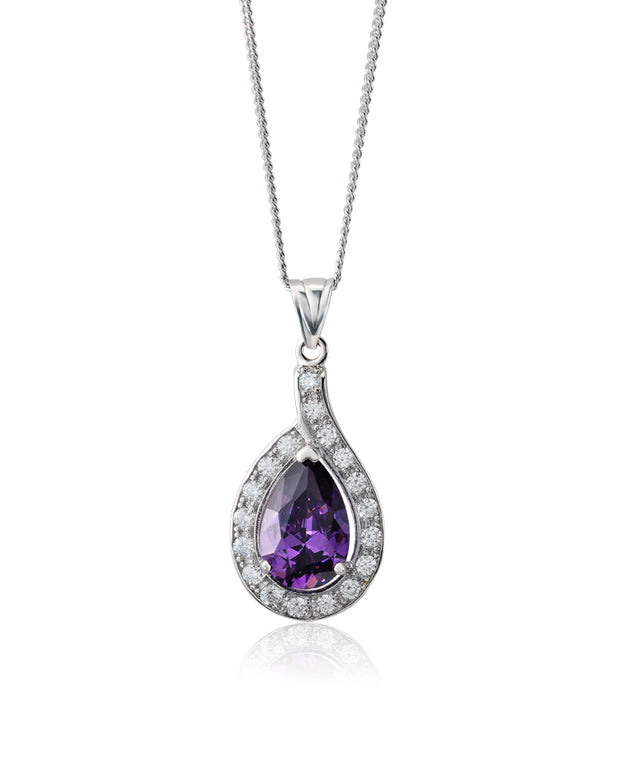Beauty & Bliss Purple Amethyst CZ Pendant - Sonia Danielle