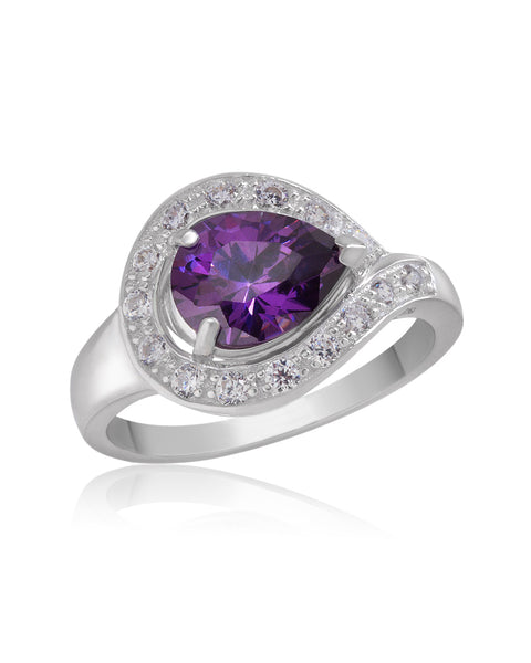 Beauty & Bliss Purple Amethyst CZ Ring - Sonia Danielle