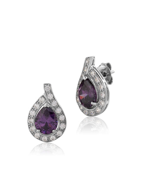 Beauty & Bliss Purple Amethyst CZ Earrings - Sonia Danielle