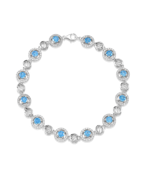 Lady of the Sea Swiss Blue Topaz CZ Bracelet - Sonia Danielle