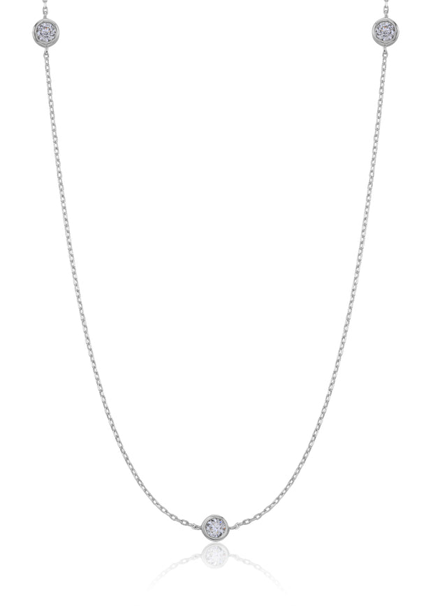 3-Stone Station CZ Necklace - Sonia Danielle