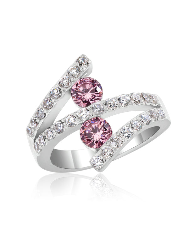 Pink Tourmaline Colour CZ Ring - Sonia Danielle
