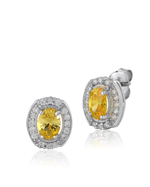 Jupiter Yellow Sapphire CZ Earrings - Sonia Danielle