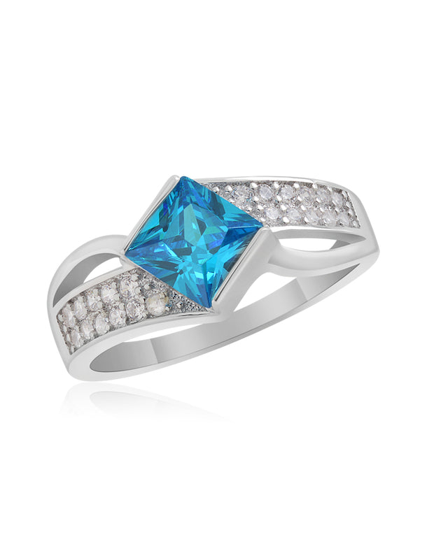 Atlantis Blue CZ Ring - Sonia Danielle