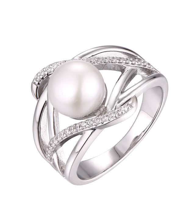 Pearl Crossover Ring - Sonia Danielle