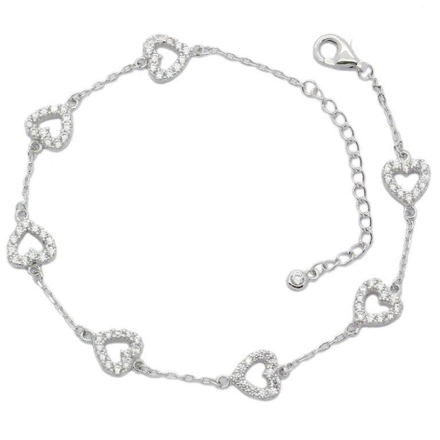 Always In My Heart Sterling Silver Bracelet - Sonia Danielle