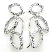 Valerie Unique and Special, Sterling Silver and CZ Earrings - Sonia Danielle