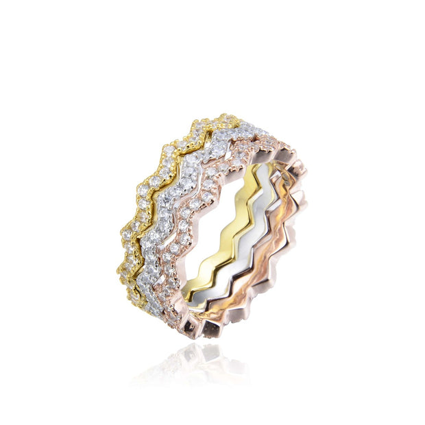 Triple Crown Stackable Ring - Sonia Danielle