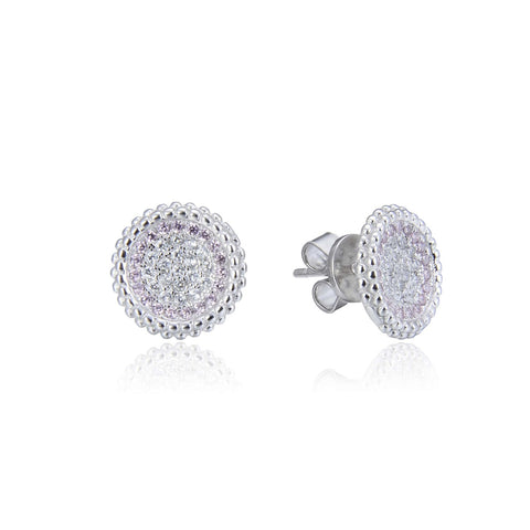 Hint of Pink Pave Earrings - Sonia Danielle