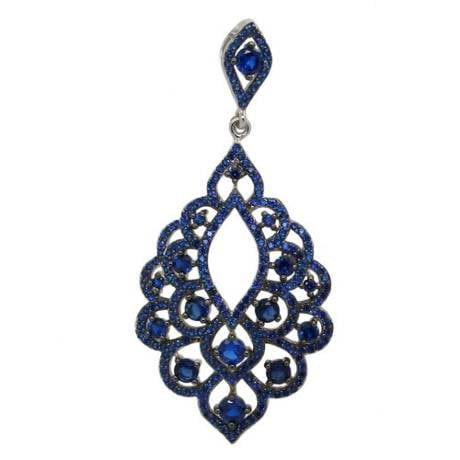 Blue Evening Bells Pendant - Sonia Danielle