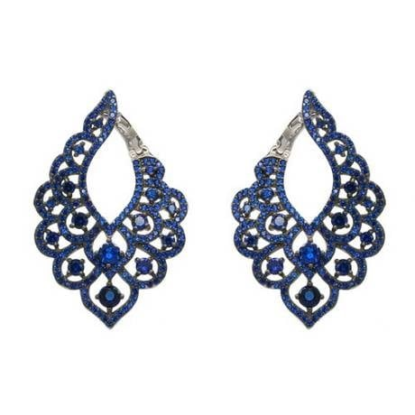 Blue Evening Bells Earrings - Sonia Danielle