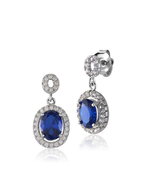 Peacock CZ Earrings - Sonia Danielle