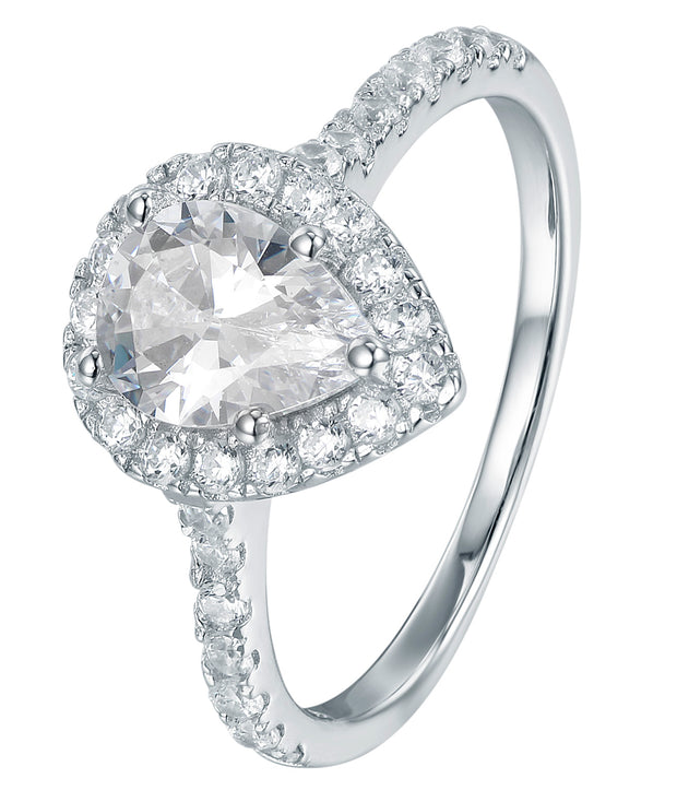 Pear Shaped Halo Ring - Sonia Danielle