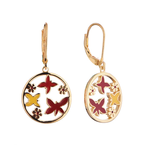 Butterfly Enamel Earrings - Sonia Danielle