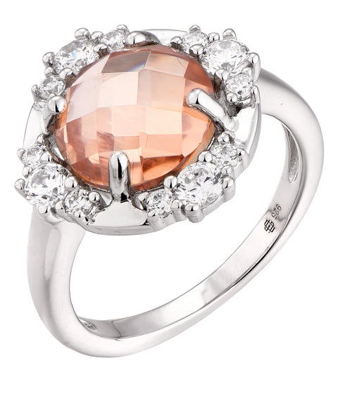Double faceted Halo Cocktail Ring - Sonia Danielle