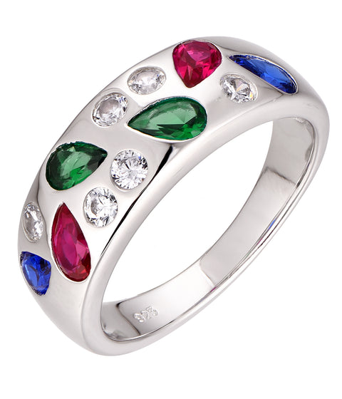 Coloured Pear Ring - Sonia Danielle