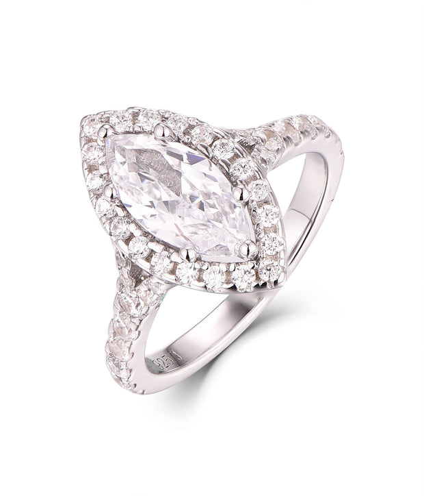 Marquise Halo CZ Ring - Sonia Danielle
