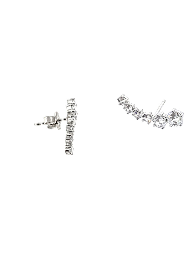 Graduated CZ Earrings