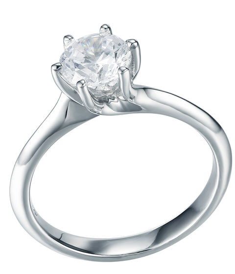 Round CZ Solitaire Ring - Sonia Danielle