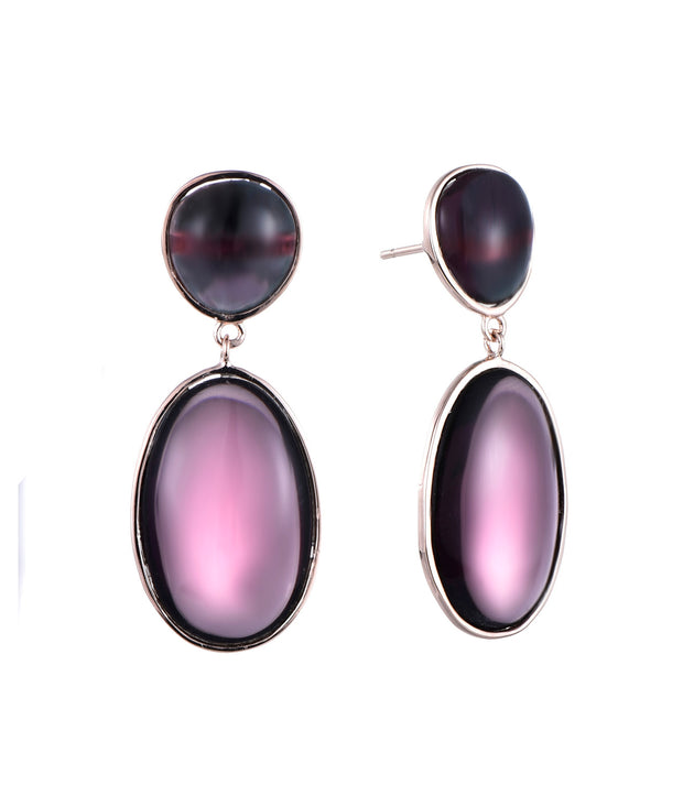 Purple Drop Earrings - Sonia Danielle