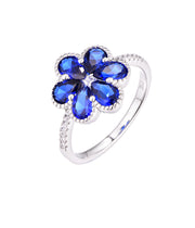 Blue Flower Ring - Sonia Danielle