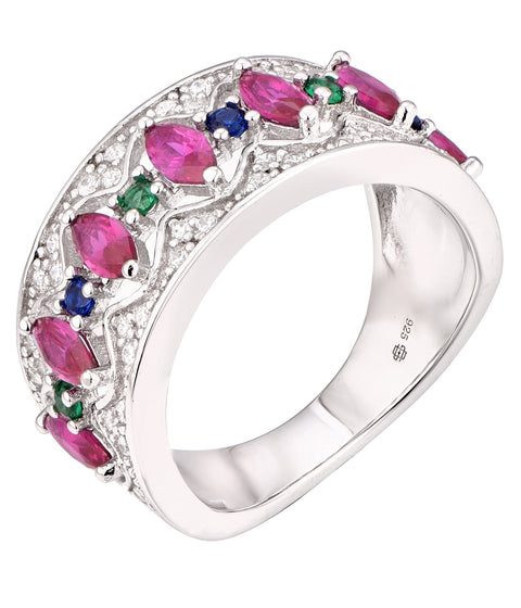 Marquise CZ Wide Band - Sonia Danielle