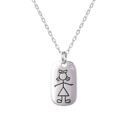 Dog Tag Pendant and Chain