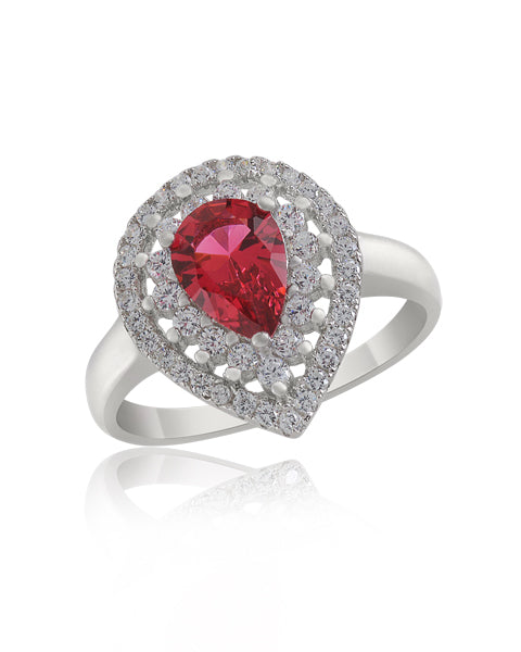 Red Pear Ring