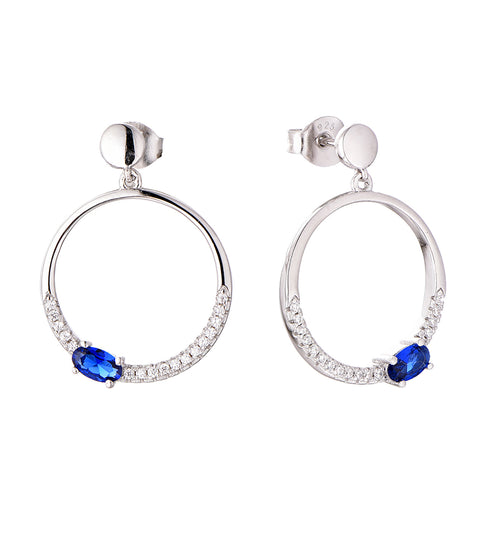 Blue Circle Of Life Earrings - Sonia Danielle